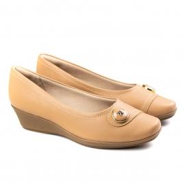 Sapato Anabela Feminino Piccadilly - Capuccino