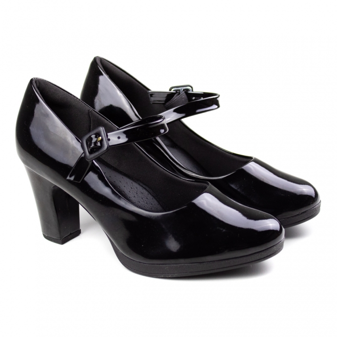 Sapato Fivela Feminino Piccadilly - Preto verniz