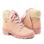 Coturno Pelo Infantil Feminino Pink Cats - Quartzo