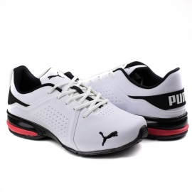 Tênis Masculino Viz RunnerPuma - Branco/preto