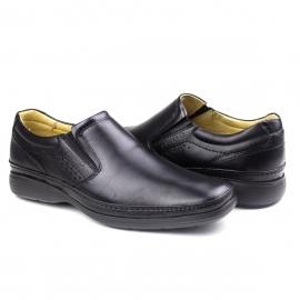 Sapato Comfort Calcar Masculino Pipper - Preto