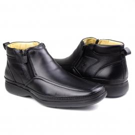 Bota Comfort Ziper Masculina Pipper - Preto