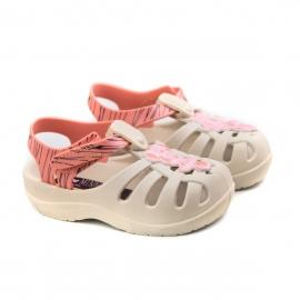 Sandália Baby Disney Magic Grendene - Bege/rosa/rosa