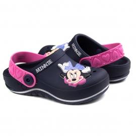 Sandália Babuch Minnie Glam Infantil Feminina Grendene - Azul/rosa