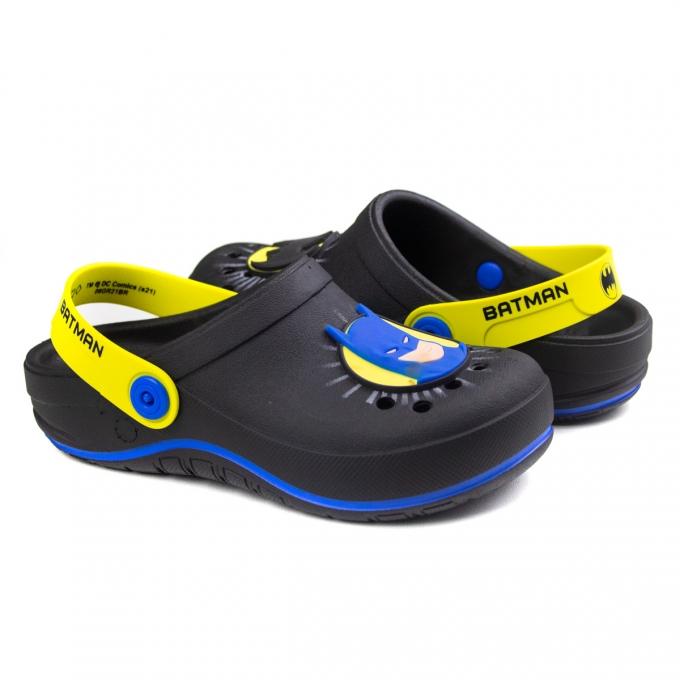Sandália Babuc II Liga Justiça Infantil Masculino Grendene - Preto/amarelo/azul