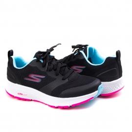 Tênis Feminino Skechers Go Run Consistent Skechers - Preto/azul/rosa