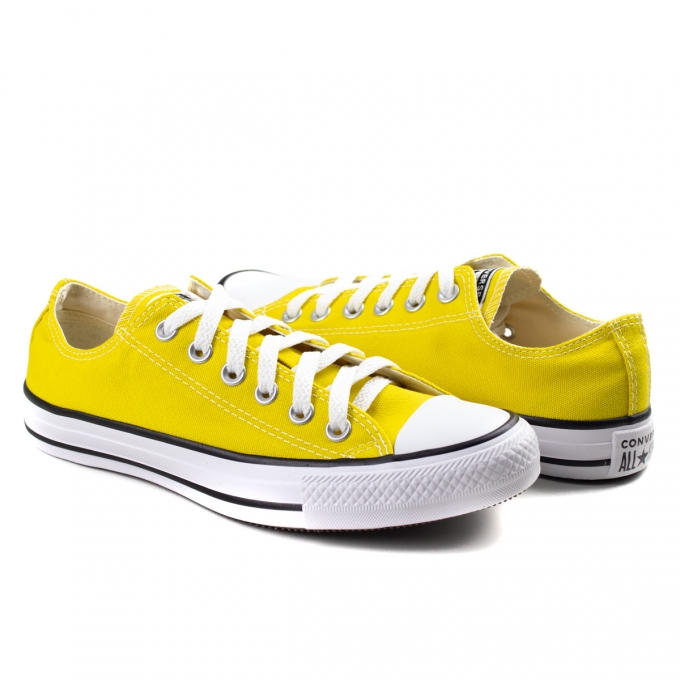 Tênis Core Ox Feminino All Star Converse - Amarelo vivo/preto/branco