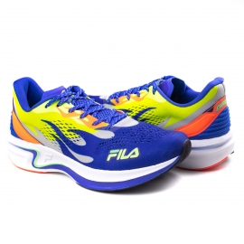Tênis Masculino Fila Racer Silva - Azul/limao/coral