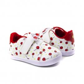 Tênis Feminino Bebê Pampili Pompom Frutas - Branco/vermelho
