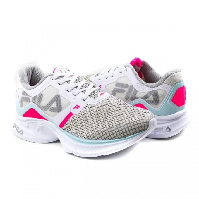 Tênis Feminino Fila Racer Move - Branco/rosa/azul claro