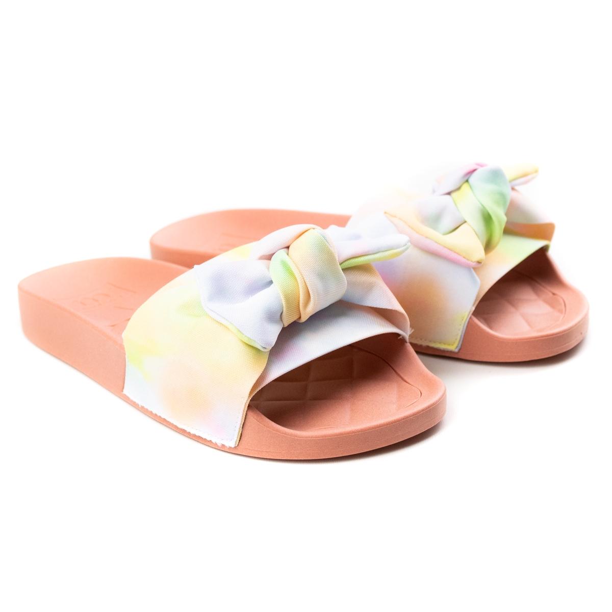 Tamanco Feminino Moleca Slide Tecido - Multi color