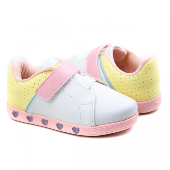 Tênis Infantil Feminino Pampili Sneaker - Colorido claro