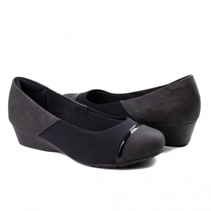 Sapato Anabela Feminino Modare - Preto