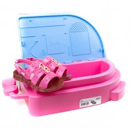 Sandália Infantil Feminina Grendene Barbie SPA - Rosa/rosa
