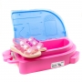 Sandália Infantil Feminina Grendene Barbie SPA - Rosa/ rosa/perolado