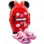 Tamanco Chinelo Infantil Feminino Grendene Minnie - Rosa/rosa