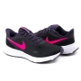 Tênis Feminino Nike Revolution 5 - Black/hyper pink-purple-lilac