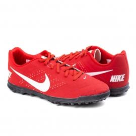Chuteira Society Beco 2TF Masculina Nike - University red/white-black