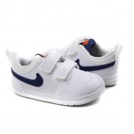 Tênis Infantil Masculino Nike Pico 5 - White/midnight navy-orange