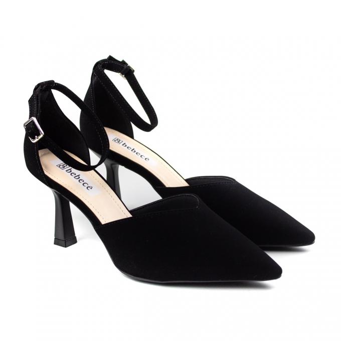 Sapato Feminino Bebecê Salto Alto - Preto