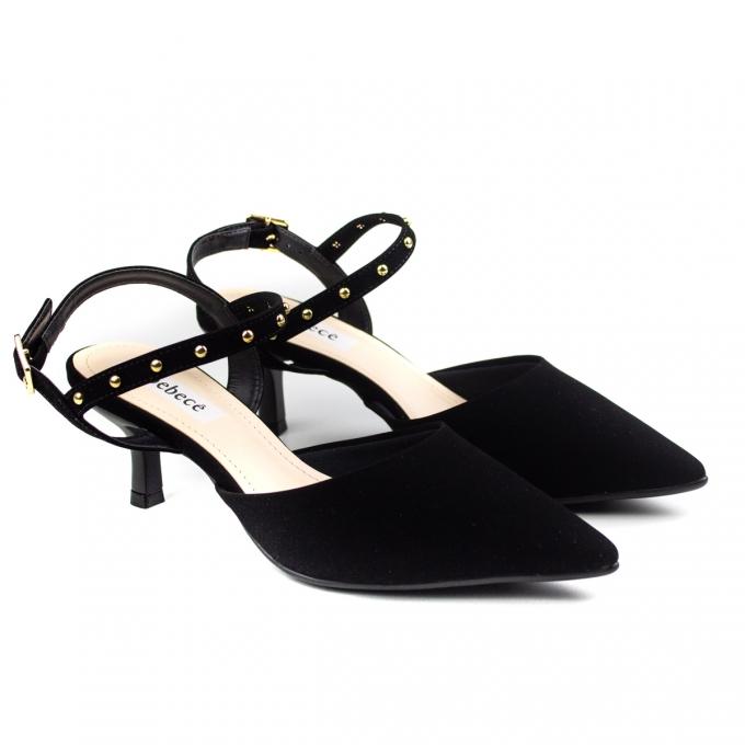 Sapato Feminino Bebecê Salto Baixo - Preto