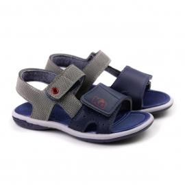 Sandália Infantil Masculina Kidy Flex - Cinza/marinho