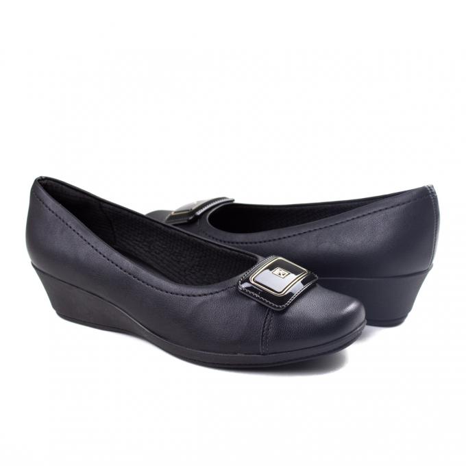 Sapato Anabela Feminino Piccadilly - Preto