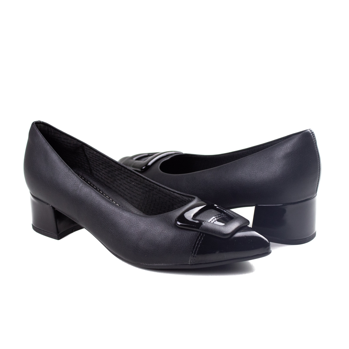Sapato Bico Fino Feminino Piccadilly - Preto
