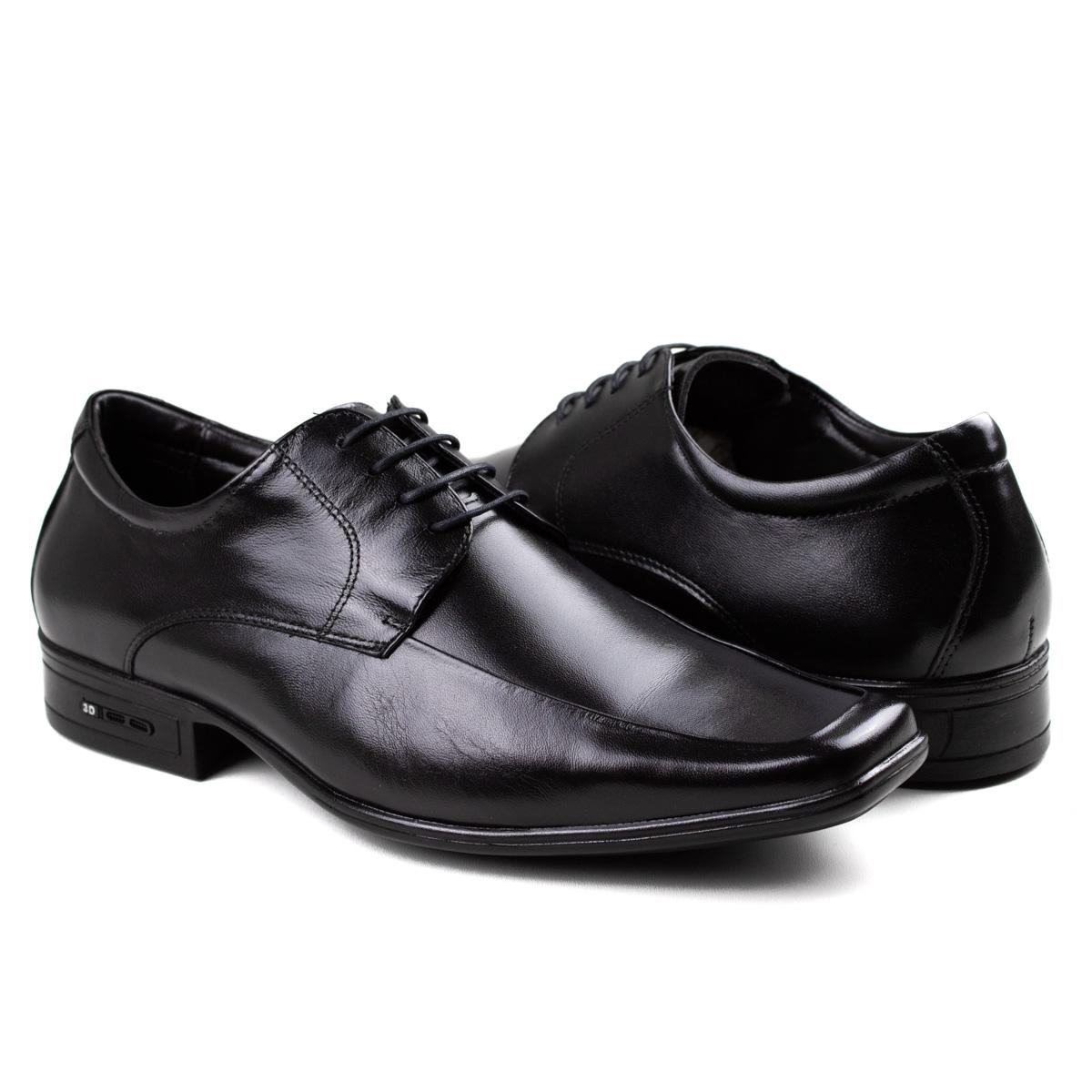 Sapato 3D Executive Masculino Jota Pe - Preto