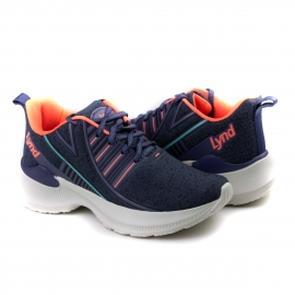 Tênis Feminino Lynd Paralles - Jeans/coral