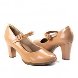 Sapato Fivela Feminino Piccadilly - Bege