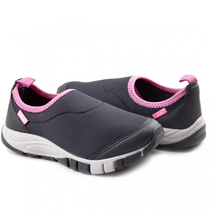 Tênis Infantil Feminino Kidy - Preto/pink