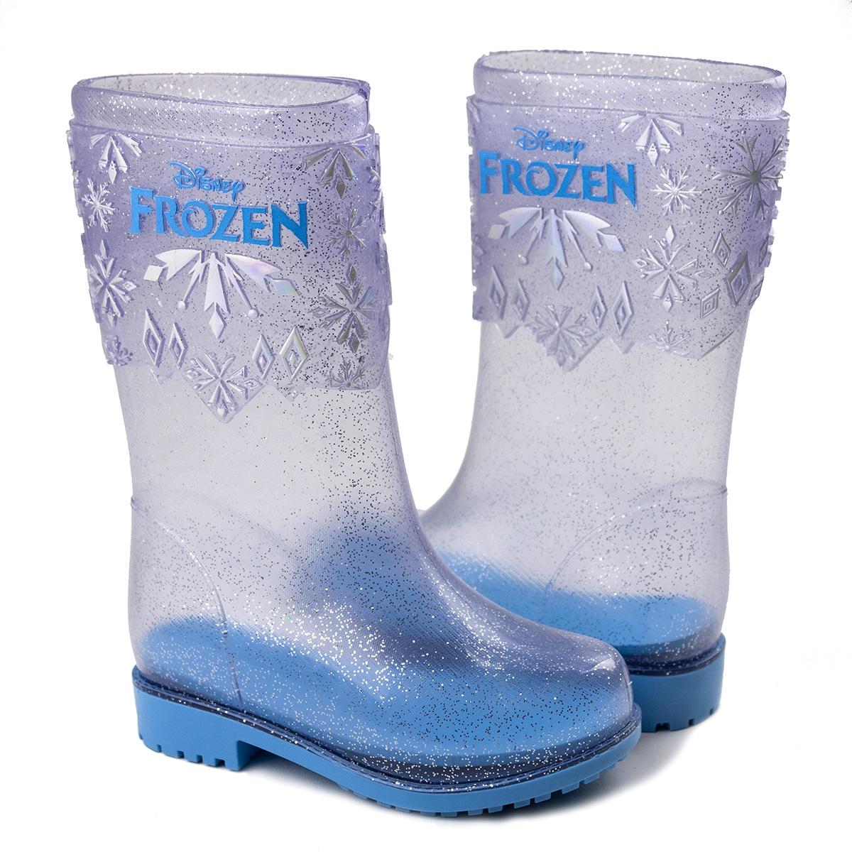 Galocha Froozen Infantil Feminino Grendene - Vidro glitter/azul